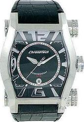 Chronotech Squared Black Leather Strap CT7999M02