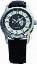 U.S. Polo Assn. U.S. Black Leather Strap USP1011ST