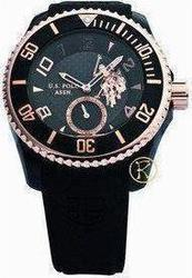 U.S. Polo Assn. U.S. Rose Gold Det Black Rubber USP1021RG