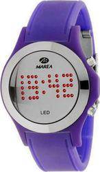 Marea Led Digital Purple Rubber Strap 41104-5