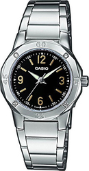Casio Collection Stainless Steel Bracelet Black Dial LTP-1301D-1AEF