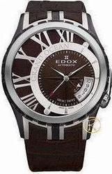 Edox Grand Ocean Automatic Brown Leather Strap 82007357BRBRIN