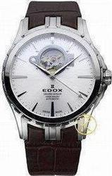 Edox Grand Ocean Open Heart Automatic Brown Leather Strap 850083AIN