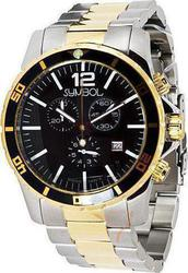 Symbol Chronograph Two-Tone Stainless Steel Bracelet - SY9148GWB