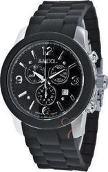 Symbol Chronograph Black Rubber Strap SY9149BB