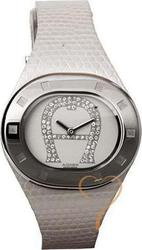 Aigner Crystal White Leather Strap A21200