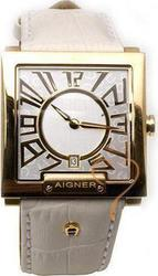 Aigner White Gold Leather Strap A27135