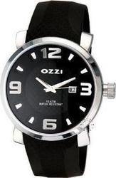 Ozzi Black Leather Strap Black Dial W07655