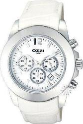 Ozzi Chronograph White Leather Strap W09078