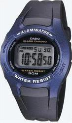 Casio Collection Digital Black Rubber Strap - W43H1AVΗEF