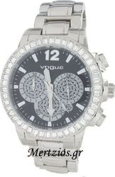 Vogue Chronograph Crystal Stainless Steel Bracelet 861011.2