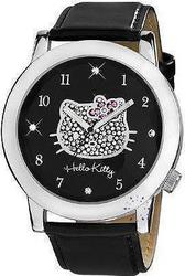 Hello Kitty Black Leather Strap 1554-267