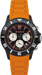 Avalanche Avalance Extreme Chronograph Orange Rubber Strap - AV-109S-OR-44