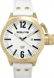 3Guys Gold Case White Leather 3G11405
