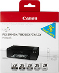 Canon PGI-29 MBK/PBK/DGY/GY/LGY Value Pack (4868B005)