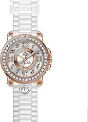 Juicy Couture Crystal Pedigree White Rubber Strap 1900792