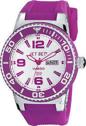 Jet Set WB30 Purple Rubber Strap J55454-160