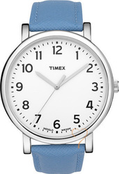Timex Originals Easy Reader Blue Leather Strap T2N479
