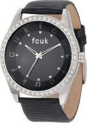 FCUK Ladies Black Leather Strap FC1073SB