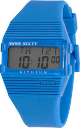 Miss Sixty Piramidal Digital Light Blue Rubber Strap SIC004