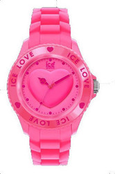 Ice-Watch Love Collection Pink Rubber Strap .PK.U.S.10