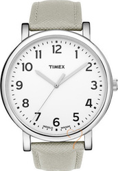 Timex Originals Easy Reader Grey Leather Strap T2N480