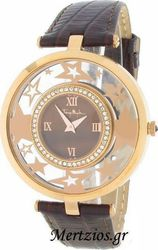 Mugler Ladies Crystal Brown Leather Strap TM4713106