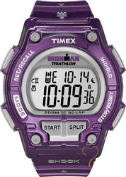 Timex Ironman Shock Resistant Purple Rubber T5K558