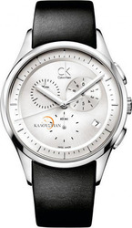 Calvin Klein Basic Chronograph Black Leather Strap