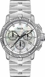 Venus Diamonds Chronograph Stainless Steel Bracelet - VE-1315B1-54-B1