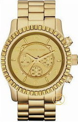 Michael Kors Chronograph Oversized Runway Gold Stainless Steel MK5541