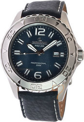 Catamaran Blue Dial Black Leather Strap - 80631595