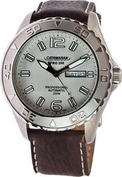 Catamaran Automatic White Dial Brown Leather Strap 80651415