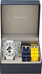 Nautica BFD 100 Multi White Dial Box Set - A19566G