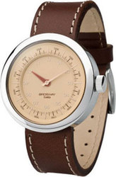 Brosway Brown Dial and Leather Strap WOB14