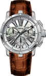 Venus Ladies Chronograph Brown Leather Strap VE-1315A1-14-L6