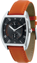 Morellato Class Chrono Black Dial Orange Leather Strap 1A005