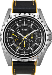 Timex Multi Dial Black Leather Strap T2N108
