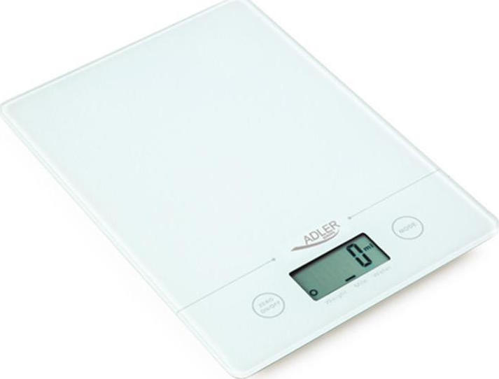 Adler AD-3138 Ψηφιακή Ζυγαριά Κουζίνας 5kg White (AD 3138 biala) - Πληρωμή και σε έως 36 Δόσεις!!!