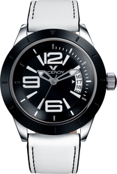 Viceroy Black White Leather Strap 40688-55