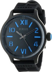 Versus by Versace City SS Ip Black Strap Sil 3C7050
