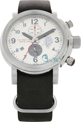 U.S. Polo Assn. Heritage Black Leather Chronograph USP4127GY