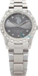 U.S. Polo Assn. Javier Crystals Stainless Steel Bracelet USP5059GY