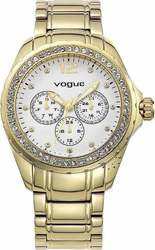 Vogue Chronograph Crystal Ladies Gold Stainless Steel Bracelet 961031.1