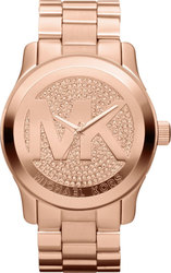 Michael Kors Crystal Rose Gold Stainless Steel Bracelet MK5661