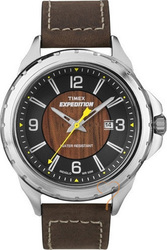 Timex Man Expedition Chronograph Brown Leather Strap - T49908