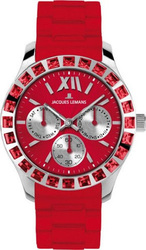 Jacques Lemans Sports Rome Crystal Red - 1-1627D
