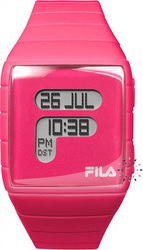 Fila Ladies Digital Pink Rubber Strap - 38-015-005