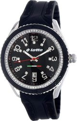 Lotto Crystal Ladies Black Rubber Strap LΧ0010-02