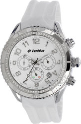 Lotto Crystal Ladies Chrono White Rubber Strap ΕΧ0010-01